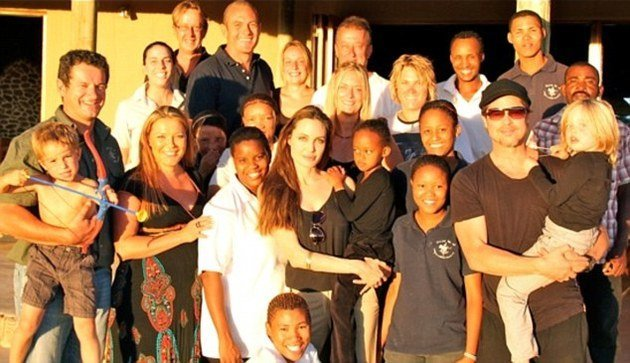 Angelina Jolie And Brad Pitt Visit Namibia With Family