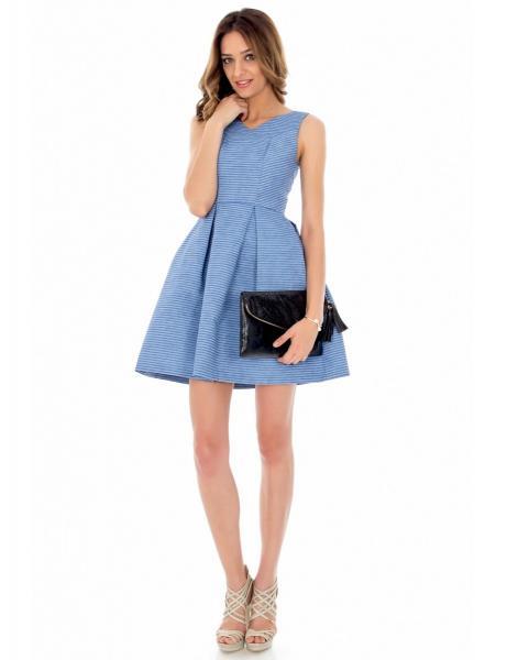 rochie-bleu-cu-joc-de-linii-roh